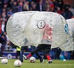 Half time bubble soccer