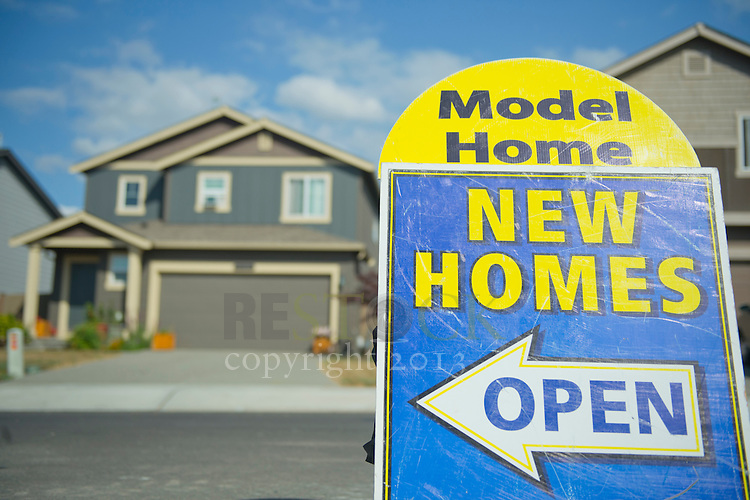 New Model Homes Sign