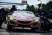 #86 Meyer Shank Racing w/ Curb-Agajanian Acura NSX GT3, GTD: Mario Farnbacher, Trent Hindman - Pit Stop