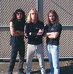 Slayer, Jeff Hanneman, Kerry King, Tom Araya, Photo By David Plastik/IconicPix 1988 Los Angeles