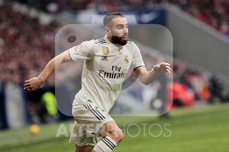 Real Madrid's Dani Carvajal during La Liga match between Atletico de Madrid and Real Madrid at Wanda Metropolitano Stadium in Madrid, Spain. February 09, 2019. (ALTERPHOTOS/A. Perez Meca)