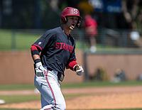 STANFORD, CA - JUNE 4: Tim Tawa during a game between North Dakota State and Stanford Baseball at Sunken Diamond on June 4, 2021 in Stanford, California.