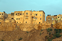 The outer wall of JAISALMER FORT built in 1156 on Trikuta Hill out of sandstone - RAJASTHAN, INDIA