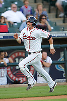 Manzella, Tommy 3526 (Andrew Woolley).jpg.  PCL baseball featuring the Oklahoma City Redhawks at Round Rock Express (in throwback Austin Senators uniforms) at Dell Diamond on July 17th 2009 in Round Rock, Texas. Photo by Andrew Woolley.