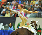 7 October 2010: Simone Jaiser (SUI) competes during Vaulting in the World Equestrian Games in Lexington, Kentucky