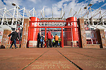 Middlesbrough 0 Wigan Athletic 0, 21/02/2009. The Riverside Stadium, Middlesbrough. Premier League. Photo by Paul Thompson. The gates of Ayresome Park, Middlesbrough's old ground, outside the Riverside Stadium.
