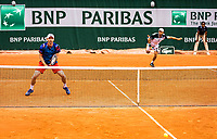 Paris, France, 30 May, 2019, Tennis, French Open, Roland Garros, Men's doubles seccond round:  Matwe Middelkoop (NED) (L) and Tim Puetz GER)<br /> Photo: Henk Koster/tennisimages.com