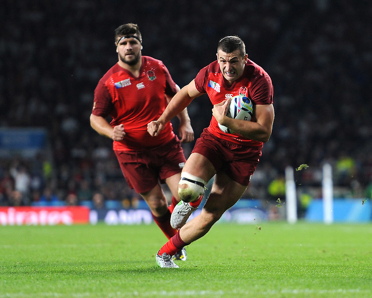 Jonny May of England in action during Match 1 of the Rugby World Cup 2015 between England and Fiji - 18/09/2015 - Twickenham Stadium, London <br /> Mandatory Credit: Rob Munro/Stewart Communications