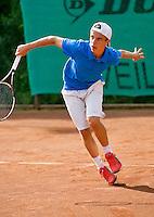 August 4, 2014, Netherlands, Dordrecht, TC Dash 35, Tennis, National Junior Championships, NJK,  Bram Bruisse (NED)<br /> Photo: Tennisimages/Henk Koster