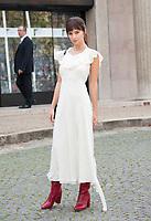 October 3 2017, PARIS FRANCE the Miu Miu<br /> Show at the Paris Fashion Week Spring Summer 2017/2018. Model Emily Ratajkowski arrives at the show.