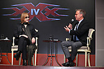 """Yoshiki and  Producer Mark Johnson attend the press conference for Hollywood movie """"xXx 4"""" in Tokyo, Japan on January 25. Yoshiki has been appointed as the music director for the movie starring Vin Diesel."""