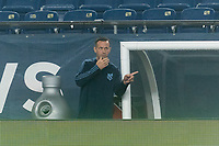 FOXBOROUGH, MA - SEPTEMBER 02: New York City FC coach Ronny Deila gives directions during a game between New York City FC and New England Revolution at Gillette Stadium on September 02, 2020 in Foxborough, Massachusetts.