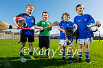 Getting ready at the Tralee Parnells U7 juvenile training on Friday. L to r: Nicholas O'Shea, Rohan Gill, Evan and Kyle Lucid.