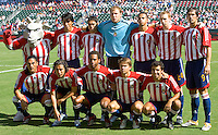 CD Chivas USA starting eleven during a MLS playoff match. Chivas beat Houston 2-1 at The Home Depot Center in Carson, California, Sunday Oct. 22, 2006.