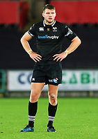 Dan Biggar of the Ospreys in action during the Guinness PRO14 match between Ospreys and Dragons at The Liberty Stadium, Swansea, Wales, UK. Friday 27 October 2017