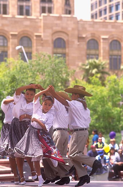 Hispanic Children Dancing, Cinco de Mayo Celebration, Phoenix, Arizona