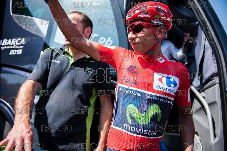 Castellon, SPAIN - SEPTEMBER 7: Nario Quintana during LA Vuelta 2016 on September 7, 2016 in Castellon, Spain