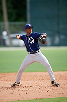 Gregory Ryan (11) while playing for Padres Scout Team/Chandler World based out of Winter Garden, Florida during the WWBA World Championship at the Roger Dean Complex on October 21, 2017 in Jupiter, Florida.  Gregory Ryan is a shortstop / third baseman from North Chesterfield, Virginia who attends Benedictine High School.  (Mike Janes/Four Seam Images)