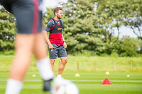 Wednesday 26 July 2017<br /> Pictured: Angel Rangel of Swansea City looks on during training <br /> Re: Swansea City FC Training session takes place at the Fairwood Training Ground, Swansea, Wales, UK