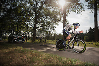 British iTT champion Alex Dowsett (GBR/Movistar)<br /> <br /> 12th Eneco Tour 2016 (UCI World Tour)<br /> stage 2: Breda-Breda iTT (9.6km)