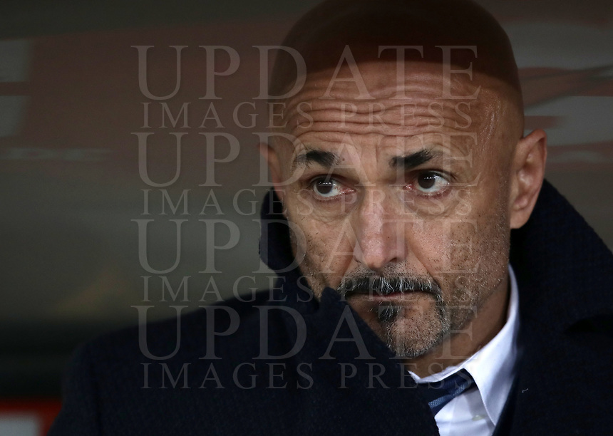 Football, Serie A: AS Roma - InterMilan, Olympic stadium, Rome, December 02, 2018. <br /> Inter's coach Luciano Spalletti prior to the Italian Serie A football match between Roma and Inter at Rome's Olympic stadium, on December 02, 2018.<br /> UPDATE IMAGES PRESS/Isabella Bonotto