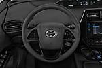Car pictures of steering wheel view of a 2019 Toyota Prius LE 5 Door Hatchback Steering Wheel