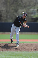 University of Cincinnati Bearcats pitcher Bryan Chenoweth (27) during a game against the Rutgers University Scarlet Knights at Bainton Field on April 19, 2014 in Piscataway, New Jersey. Rutgers defeated Cincinnati 4-1.  (Tomasso DeRosa/ Four Seam Images)