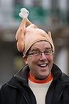 LOUISVILLE, KY -NOV 24: Thanksgiving day hat in the paddock at Churchill Downs, Louisville, Kentucky.  (Photo by Mary M. Meek/Eclipse Sportswire/Getty Images)