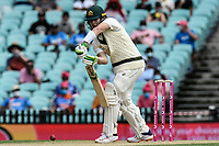 7th January 2021; Sydney Cricket Ground, Sydney, New South Wales, Australia; International Test Cricket, Third Test Day One, Australia versus India; Will Pucovski of Australia plays a defensive shot