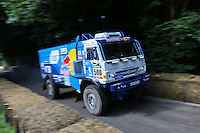 The 17.2 litre turbocharged v8 diesel Red Bull UK Kamaz T4 Dakar Truck, built in 2015 and driven by Airat Mardeev during the hill climb at Goodwood Festival of Speed 2016 at Goodwood, Chichester, England on 24 June 2016. Photo by David Horn / PRiME Media Images