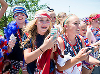 Ottawa, Canada - June 24, 2015:  The USWNT trained before their quarterfinal game in the FIFA Women's World Cup.