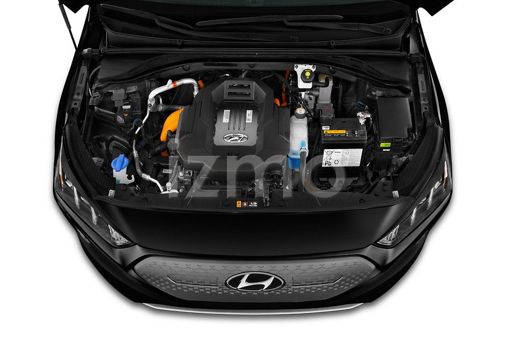 Car Stock 2020 Hyundai Ioniq-Electric Limited 5 Door Hatchback Engine  high angle detail view