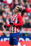 Antoine Griezmann of Atletico de Madrid reacts during the La Liga 2017-18 match between Atletico de Madrid and Girona FC at Wanda Metropolitano on 20 January 2018 in Madrid, Spain. Photo by Diego Gonzalez / Power Sport Images