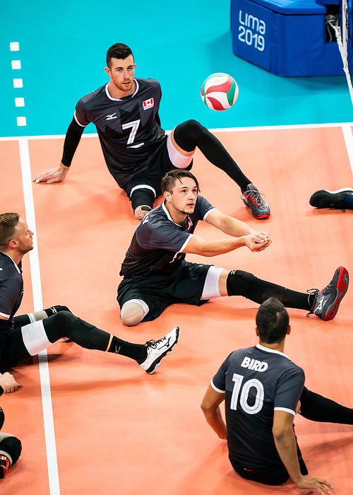 Matteo Lisoway, Lima 2019 - Sitting Volleyball // Volleyball assis.<br /> Canada competes in men's Sitting Volleyball // Canada participe au volleyball assis masculin. 25/08/2019.