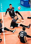 Lima, Peru -  25/August/2019 -   Matteo Lisoway (#17) in action as Canada takes on Costa Rica in men's sitting volleyball at the Parapan Am Games in Lima, Peru. Photo: Dave Holland/Canadian Paralympic Committee.