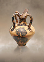 Minoan long spouted rhython decorated with a pomegranate, Zakros Palace  1500-1450 BC; Heraklion Archaeological  Museum.