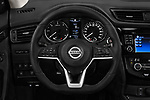 Car pictures of steering wheel view of a 2018 Nissan X-Trail Tekna 5 Door SUV Steering Wheel