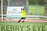 Park FC keeper Adam Bolla stops another Listowel Celtic effort in the Denny Youths final