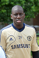 Prior to playing Manchester City in a friendly game at Busch Stadium, home of the St Louis Cardinals baseball team, Chelsea held a closed practice at Robert R Hermann Stadium on the campus of Saint Louis University..Demba Ba.