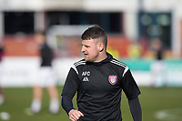 13th March 2021; Dens Park, Dundee, Scotland; Scottish Championship Football, Dundee FC versus Arbroath; Bobby Linn of Arbroath during the warm up before the match