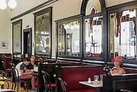 Café Griensteidl, Michaeler Platz, Wien, Österreich, UNESCO-Weltkulturerbe<br /> Café Griensteidl, Michaeler Platz, Vienna, Austria, world heritage