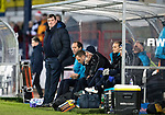 Dundee v St Johnstone…29.12.18…   Dens Park    SPFL<br />A relaxed Tommy Wright watches his teasm from the dugout<br />Picture by Graeme Hart. <br />Copyright Perthshire Picture Agency<br />Tel: 01738 623350  Mobile: 07990 594431