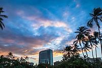 Sunrise over the Trump International Hotel & Tower, Waikiki, O'ahu.