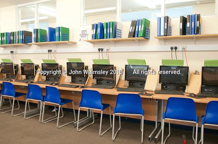 Empty classroom, state secondary school.