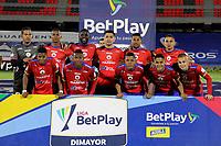 PASTO - COLOMBIA, 15-04-2021: Jugadores de Deportivo Pasto posan para una foto, antes de durante partido pospuesto de la fecha 16 entre Deportivo Pasto y Atletico Bucaramanga por la Liga BetPlay DIMAYOR I 2021 jugado en el estadio Departamental Libertad de la ciudad de Pasto. / Players of Deportivo Pasto pose for a photo, prior a posponed match of the 16th date between Deportivo Pasto and Atletico Bucaramanga for the BetPlay DIMAYOR I 2021 League played at the Departamental Libertad Stadium in Pasto city. / Photo: VizzorImage / Leonardo Castro / Cont.