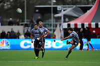 Paul Jordaan of Sharks takes a penalty kick during the Sanlam Private Investments Shield match between Saracens and the Cell C Sharks at Allianz Park on Saturday 25th January 2014 (Photo by Rob Munro)