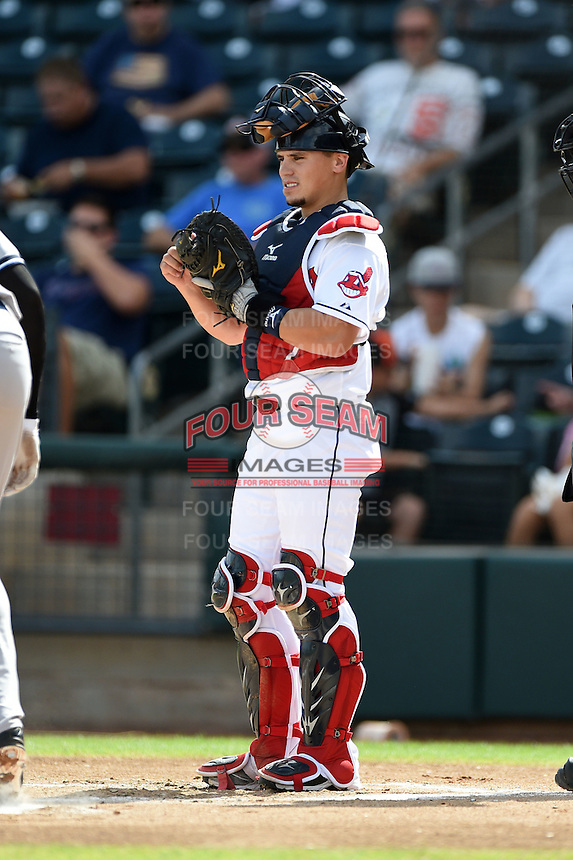 Peoria Javelinas catcher Tony Wolters (2) during an Arizona Fall League game against the Scottsdale Scorpions on October 18, 2014 at Surprise Stadium in Surprise, Arizona.  Peoria defeated Scottsdale 4-3.  (Mike Janes/Four Seam Images)