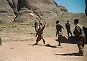 Iran 1999.Kala Resh:  PKK's fighters playing football  Iran 1999 Detente a Kala Resh , combattants jouant au Football