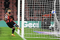 Junior Stanislas of AFC Bournemouth scores the first goal during AFC Bournemouth vs Wycombe Wanderers, Sky Bet EFL Championship Football at the Vitality Stadium on 15th December 2020