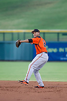 AZL Giants second baseman Jose Rivero (26) warms up between innings against the AZL Cubs on July 17, 2017 at Sloan Park in Mesa, Arizona. AZL Giants defeated the AZL Cubs 12-7. (Zachary Lucy/Four Seam Images)